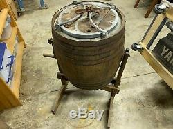 Buhl's Antique Butter Churn Horse Shoe Style 1800s