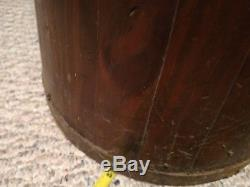 Butter Churn Wooden Vintage Antique With Original Lid And Dasher