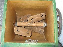 C1900 STANDARD WOOD BOX BUTTER CHURN Hand Crank 7gal ANTIQUE WAPAKONETA OHIO