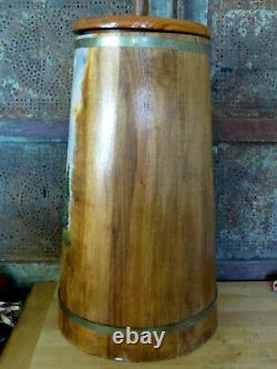 Complete Old Wood Wooden Butter Churn w GORGEOUS Barn Painting by W. Ames