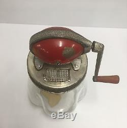 Dazey Red 4 Qt Churn # 4 With Wood Butter Paddle / Ladel Model B Screen