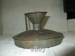 Early Galvanized or Tin Butter Churn