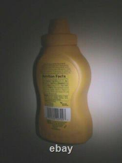 Empty French's Mustard Container with Label, No Mustard Included (Cleaned)