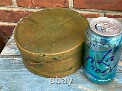 Good Antique Green Painted Pantry Box With Finger Joint 7 diameter