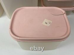 Huge Lot Of Vintage Strawberry Cream PINK TUPPERWARE! 172 Pieces
