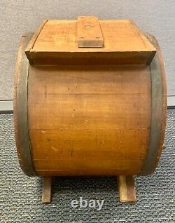 Large Antique Late 1800's Butter Churn Joseph Breck & Sons Boston Mass. Nice