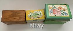 Lot 3 Vtg Recipe Boxs With Old Recipes Hand Written Clipped Printed