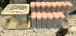 NEW TUPPERWAREVINTAGE Modular Mate Spice Carousel & Shaker Containers32 PC SET
