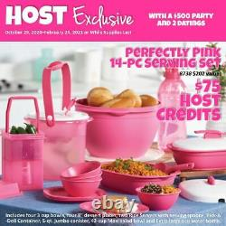 NEW tupperware perfectly pink 14 pc set picnic storage serving HoST Exclusive