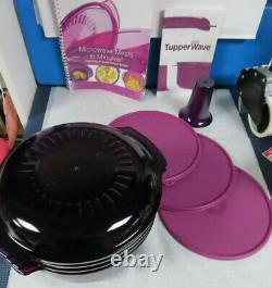 New 11 Pc. Tupperware Stack Cooker, 1 Steamer, Cone, 3 Seals, 2 Covers, Cookbook