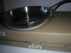New Tupperware Stainless Frying Pan T Chef Series 9.5 Culinary Cookware