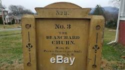 No 3 Blanchard Butter Churn by Porter Blanchard's Sons, Concord N. H