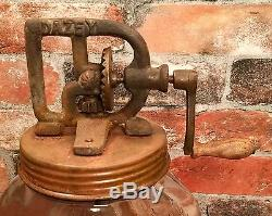 No. 40 Dazey Churn Glass Butter Churn with Wood Paddle