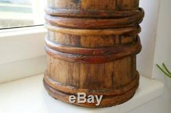 Old Antique Primitive Wooden Buttern Churn Original Patina Folk Art Austria 19C