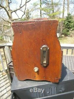 PRIMITIVE ANTIQUE AMERICANA 1800's BUTTER CHURN WITH CHILLER CHAMBER GREAT COND