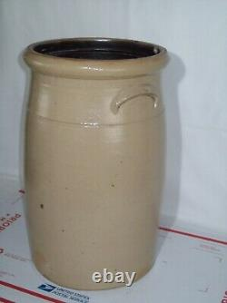 Primitive #3 Bee Sting Red Wing Stoneware Butter Churn Crock Displays Well