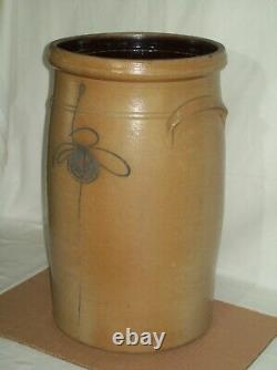 Primitive #6 Bee Sting Red Wing Stoneware Butter Churn Crock Displays Well