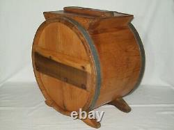Primitive Handle Crank Wooden Butter Churn Nice Antiqe Piece Does Display Well