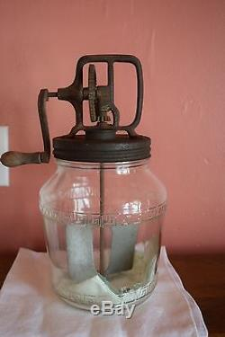 Rare Antique Oakes Mfg Co. Large Butter Churn