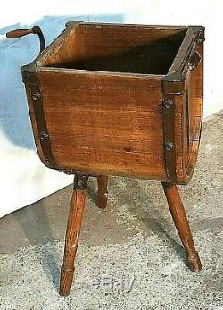 Rare 1800's General / Country Store Museum Quality Hand Crank Butter Churn