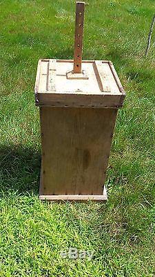 Rare Antique 1900s Hand Crafted Authentic New England Butter Churn