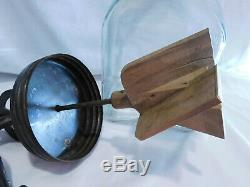 Rare No Screen Top Antique Dazey No 40 Butter Churn 4 Qt Wood Paddle