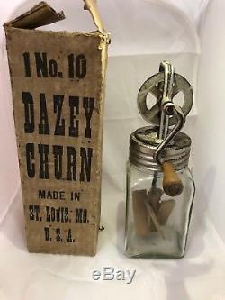 Rare Old Vintage Dazey Butter Churn No 10 With Box Made In USA Marked