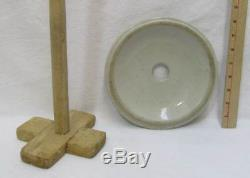 Red Wing 3 Gallon Butter Churn Stoneware Lid Churning Stick 4 inch Red Wing Logo