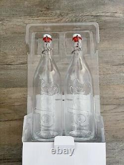Supreme Swing Top 1.0L Bottle (Set Of 2) Clear IN HAND Ready to Ship