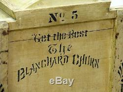 THE BLANCHARD CHURN No 5 Antique All Original VG Working Condition