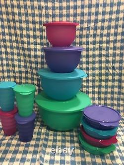 TUPPERWARE IMPRESSIONS KRAZY 12Pc. SETSPRING COLORS! NEW