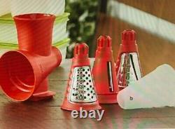 Tupperware Fusion Master Sorbet Maker with Base PLUS Grate Master and Cones NEW