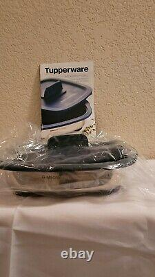Tupperware MICROPRO GRILL designed for microwave use grilling pan black &silver