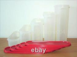 Tupperware Modular Mates Super Oval Containers Set(5)red Passion/new