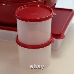 Tupperware Set Snack N Stor Container & 4 Pc. Round Mixing Bowl Container Set