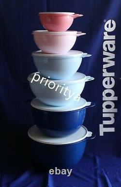 Tupperware Thatsa Mixing Bowl Set of 6 in Pink Blue New in Package