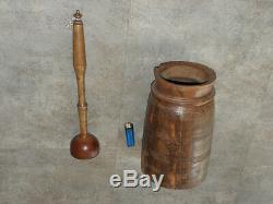 VINTAGE BUTTER CHURN primitive Wood Campaign folk Countryside antique french