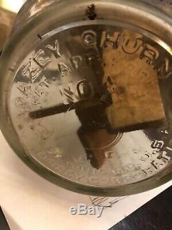 VINTAGE DAZEY BUTTER CHURN NO. 4 IN GOOD USED CONDITION! Wood churns easily