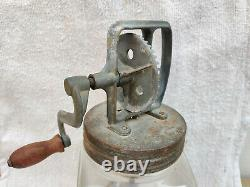 Vintage 2 Imperial Quarts Blow Butter Churner Old Kitchenware Collectable 1940s