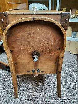 Vintage Butter Churn Bentwood Hand Crank Tub Drum Early 1900's