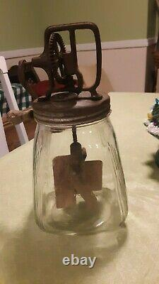 Vintage Butter Churn JAR HAS THE INITIALS SCC PAT. APP. FOR