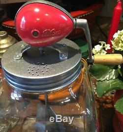 Vintage Butter Churn Large Blow 6 Imperial Quart 60 Made In England