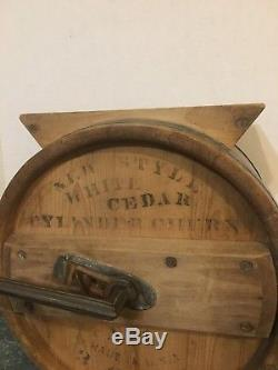Vintage Cylinder Cheese Churn No. 1 3 Gallon Excellent