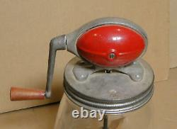 Vintage Dazey No. 4 Red Football Style Butter Churn with Tulip Shape Jar, Nice