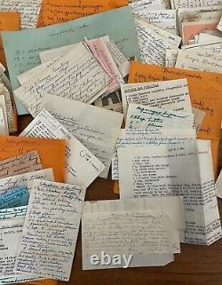 Vintage Handwritten Recipes Typed Clippings 1300+ Large Metal Recipe Box