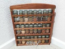 Vintage McCormick Spice Rack with Full Set of Spices in Original Jars
