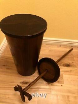 Vintage Mel's Wood Specialties Pine Up & Down Custom Painted Butter Churn