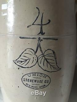 Vintage Red Wing Union Stoneware 4 Gallon Butter Churn