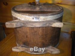 Vintage Wooden Table Top BUTTER CHURN