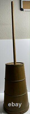 Vintage butter churner Wood 1900s Kitchen Use Classic